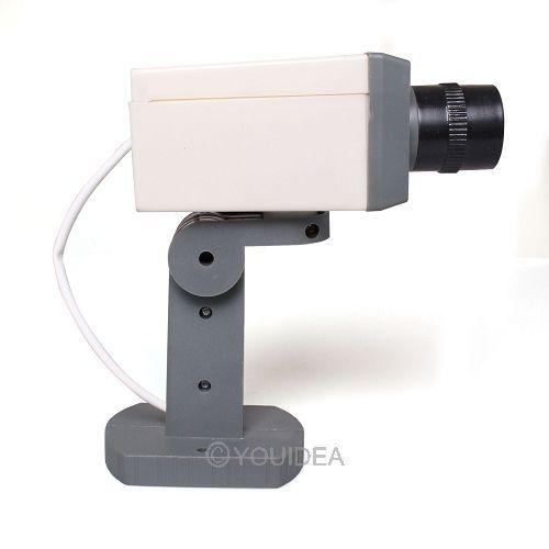 Wholesale-Wholesale 1pc Simulation Realistic Looking Motion Sensor Detection System Fack Dummy Security Camera Home Safety