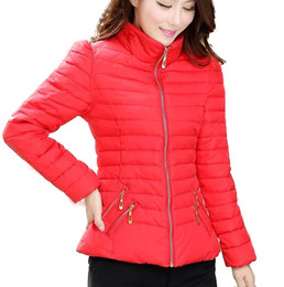Wholesale Ladies Larger Size - Wholesale-Ladies Thicken Cotton Jackets Coat Women 2015 Fashion Warm Winter Coat New Larger Size Casual Women Down Jacket Coat