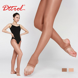 Wholesale Cheap Nylon Tights - Wholesale-free shipping Cheap but high quality Dttrol Girl's stirrup dance shimmery tights stage tights (D006197)