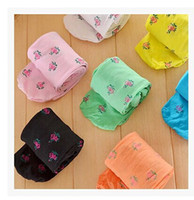 Wholesale Tights For 12 Years - Wholesale-Quality comfortable soft 5pcs lot 10 colored cheap stretch Velvet baby girl tights for kids 2-12 years old free shipping B00043