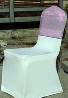 Wholesale Wholesale Chair Hood Ties - Wholesale-Purple Big organza chair sash\chair hood\organza chair tie 65cm*275cm Free shipping