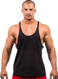 Wholesale Cheap Fitness Clothes - Wholesale- NEW Cheap Summer Style Y Style Fitness Clothes Tank Top Sexy Stringer Men Vest