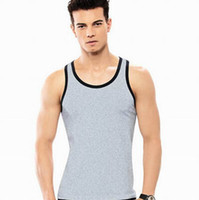 Wholesale Mens Gym Vest Wholesale - Wholesale-Mens Vest Gym Undershirt Top Wear Basebal Tank Tops Coat Up Sport Sexy Sleeveless Bodybuilding Vest