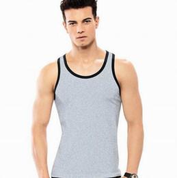 49cf50e2a6fc6 Vente en gros-Mens Vest Gym Undershirt Top Wear Basebal Débardeurs Manteau  Sport Sexy sans manches Bodybuilding Gilet vêtements de sport   vendre