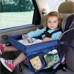 car travel tray Coupons - Wholesale-Safety Snack Car Seat Board Table for Kids Play Travel Tray Drawing Waterproof