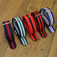 Wholesale Nylon Watch Band Strapping Wholesale - Wholesale-18mm high quality DW design High quality Nylon nato Watch band strap colorful fashion NATO strap with rose gold buckle
