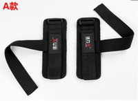 Wholesale Chin Up Workouts - Wholesale-2pcs lot Weight Lifting Gloves Chin Up Palm Supporters Grip Barbell Pads Bar Straps with Wrist Support Workout