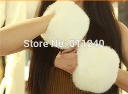 Wholesale Hand Cuffs Furry - Wholesale-Winter Faux Fur Oversleeve Wrist Arm Warmer Cuff Cover Fuzzy Furry Wristband Hand Muff