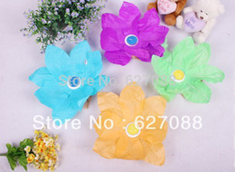 Wholesale Paper Lotus Flower Floating Candle - Wholesale-Baby toys Wholesale - free shipping Candle lamp New 20 pcs Paper Lotus Flower Floating Lantern Wishing Lamp Creative