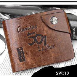 Wholesale Man Wallet Bailini - Wholesale-Genuine Leather Men Hasp Standard wallets Bailini Purses Bifold Brand Wallet Retro Design Style Purse for men Carteira Masculina