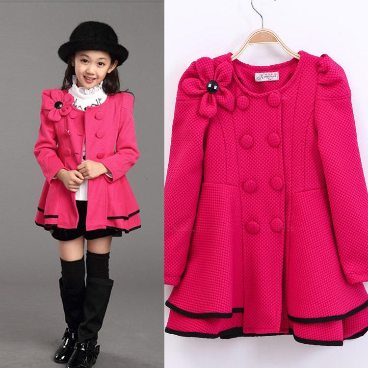 Wholesale Girls Dress Coat Limited Long Girls Fall 2015 New Kids ...