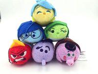 Wholesale Pixar Plush - Wholesale-Pixar 2015 Cartoon Animation Inside Out Pixar Moive Inside Out Tsum Tsum Anger Joy Fear Disgust Sadness Plush Toys Doll