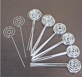 Gros-lot 50 pcs DIY anneau boucle cercle forme artisanat fil picturememonotephotocard titulaire clips, gros claycake