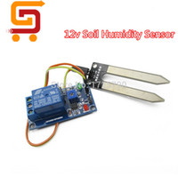 Wholesale Soil Humidity Arduino - Wholesale-Soil Moisture Sensor 12v Soil Hygrometer Humidity Detection Relay Sensor Module Water Sensors for Arduino Smart Car Robot
