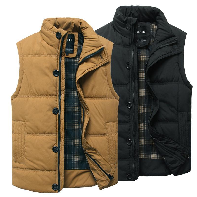 Shop Men's Vests Online, Fall Winter Men'S Casual Sleeveless Vest ...