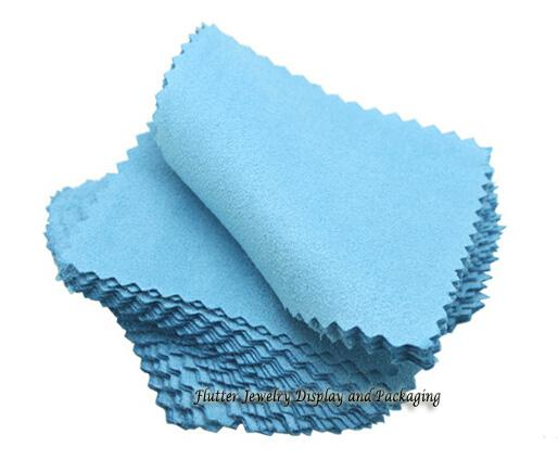 Wholesale-100pcs/lot Silver Jewelry Cleaning Gold Cleaner Polishing Cloth 80x80mm Cheapest Double Sides Cotton Flannels Fabric