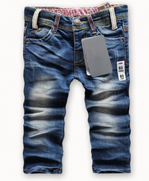 Wholesale Cool Jeans For Kids - Wholesale-Retail fashion cool cotton denim boys jeans brand children's long pants for 2-10 years kids girls pants za8803