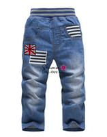 Wholesale Kk Rabbit Baby - Wholesale-Boys' Jeans KK-RABBIT brand baby pants Boy's Jeans Cowboy pants trousers for spring autumn wholesale and retail 3-7Y