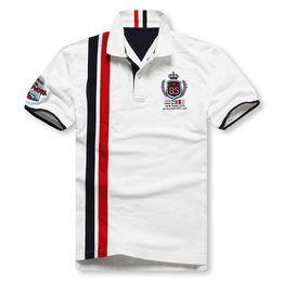 Wholesale Big Tall Shirts 5xl - Wholesale-2015 Mens Plus Size 5XL 6XL Vertical Stripe Cotton Short Sleeve Polo shirt Men Designer Brand Clothing shirts for Big & Tall