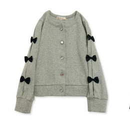 Wholesale Cardigan Sale Baby Girl - Wholesale-Free Shipping 2015 Hot Sale Baby Girls Cardigan Sweater Coat Gilr's Autumn & Winter Bowknot Fleece Render Cute Baby Girl