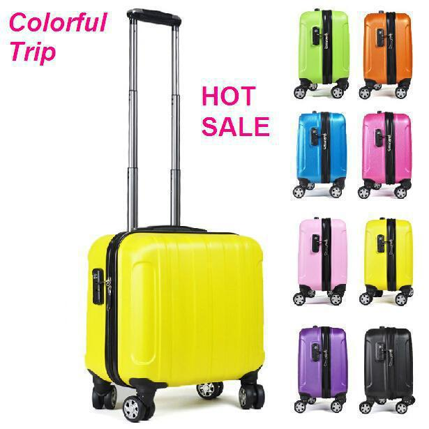 Wholesale Small Size Luggage Carry Ons Suitcase 17inch Luggage Trunk  Spinner Trolley Boarding Bag Notebook Laptop Case Trip Suitcase Briefcases  For Men ... 411fe84506b08