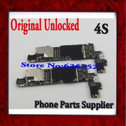 fitbit flex ladegerät Rabatt Wholesale-1Pcs freies Verschiffen-Qualität 100% ursprüngliches entriegeltes 16GB Mainboard für iphone 4s Motherboard mit Chips
