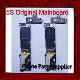 Wholesale Iphone 5s Factory Unlocked - Wholesale-1000% Original Factory Unlocked 16G 5S Mainboard,For iphone 5S Motherboard with Fingerprint Identification & Chips,Free