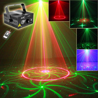 ingrosso barra luci laser-Wholesale-SUNY 3 Lens 24 Patterns Club Bar RG Laser BLU LED Stage Lighting DJ Home Party 300mw spettacolo Proiettore professionale Light Disco