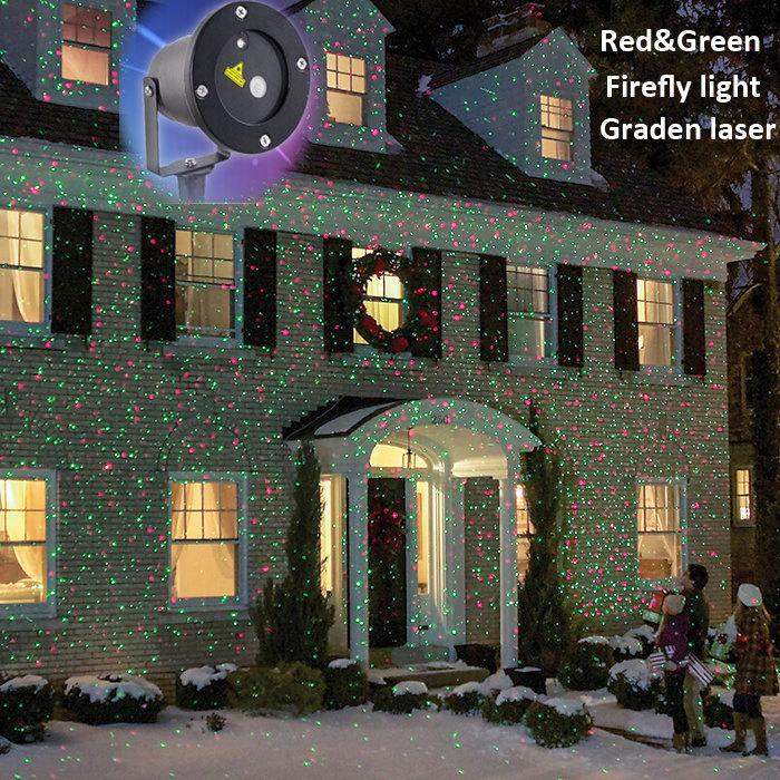 wholesale ip44 waterproof outdoor christmas lights elf laser projectorred green moving fireworm effect new year christmas light projector light dj led par