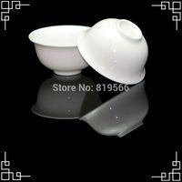 Wholesale Chinese Porcelain Tea Cups Wholesale - Wholesale-Pure White Ceramic Tea Cup Fine Bone China Kung Fu Tea Set Service Chinese Porcelain Drinkware