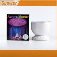 Wholesale Aurora Master Lamp - Wholesale-Aurora Master LED Projector with MP3 Speaker USB Ocean Wave Projection Lamp With Speaker and Night Light