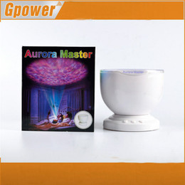 Wholesale Led Ocean Lamp - Wholesale-Aurora Master LED Projector with MP3 Speaker USB Ocean Wave Projection Lamp With Speaker and Night Light