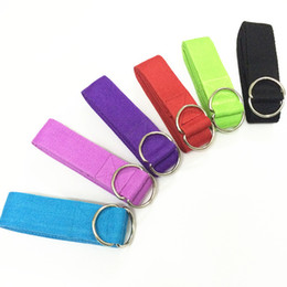 Wholesale Gym Rings Exercises - Wholesale-columpio yoga2015 New Lengthen Multi-Colors Yoga Belts Stretch Strap D-Ring Belt Waist Leg Fitness Exercise Gym Rope 183cm yoga