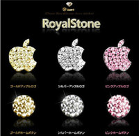 Wholesale Iphone Home Button Stickers Crystal - Wholesale-3 pieces 3 Colors Awsome Sticker Sells Luxury For iPhone 5S 5C 6 PLUS iPad Bling Diamond Crystal Deco Home Button & Logo
