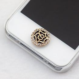 $enCountryForm.capitalKeyWord Canada - Wholesale-NO.107 6 plus home button sticker for iphone 4 4s 5 5s iPad,diamond cartoon sticker pearl rhinestone phone decoration accessory