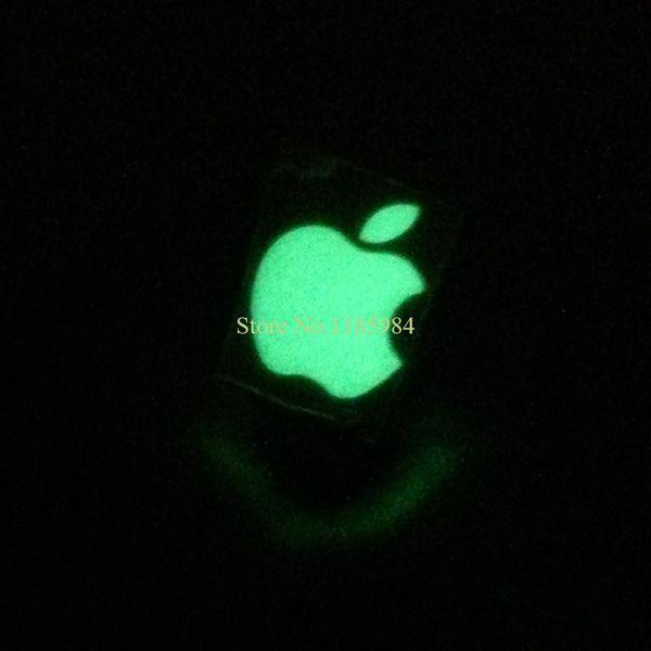 Autocollant de logo luminescent bricolage Profit-Zéro pour Apple iphone 3GS / 4 / 4S / 5 vert clair autocollant lumineux de lumière naturelle Stickers téléphone mobile