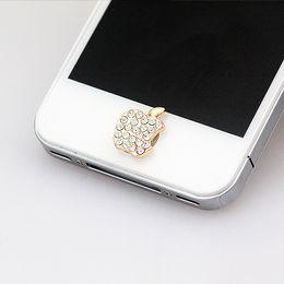 $enCountryForm.capitalKeyWord Canada - Wholesale-NO.104 6 plus home button sticker for iphone 4 4s 5 5s iPad,diamond cartoon sticker pearl rhinestone phone decoration accessory