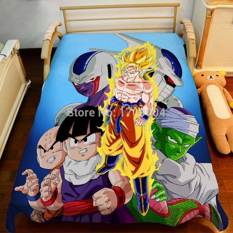 2018 wholesale anime manga dragonball z bed sheet 150 for Dragon ball z bedroom ideas