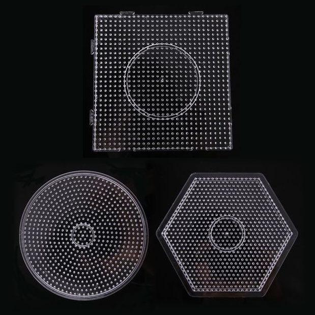 Wholesale- free shipping 3pcs large pegboards for 5mm fused beads for hama  perler beads DIY educational toy PUPUKOU