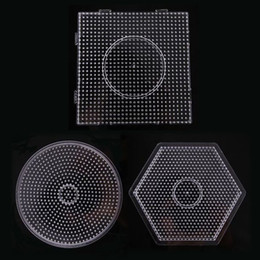 Wholesale beads pegboards - Wholesale- free shipping 3pcs large pegboards for 5mm fused beads for hama perler beads DIY educational toy PUPUKOU