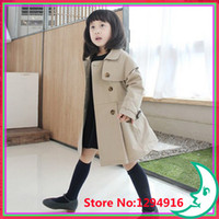 Wholesale Girls Peacoat - Wholesale-Best selling!!Top quality fashion baby coats children clothing girl's coats kids Peacoat free shipping