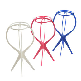 Wholesale head hat stand - Wholesale-Top Quality Head Hat Cap Holder Wigs Stand Display Tool Hair Accessories Portable Folding Wig Stands Hair Accessory