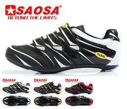 Wholesale Shoe Bike Carbon - Wholesale-Men's bicycle cycling shoes road bike sneakers tiebao brand carbon pantent leather sidebike shoe red white black gold for man
