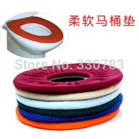Wholesale Heating Toilet Seat - Wholesale-2015 New Warmer Toilet Washable Cloth Seat Cover Pads Lycra Use In O-shaped Flush Toilet toilet seat heated esteira