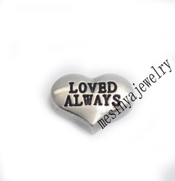 Wholesale Wholesale Items Min - Wholesale-10pcs loved always floating charms for glass locket FC-969.Min amount $15 per order mixed items