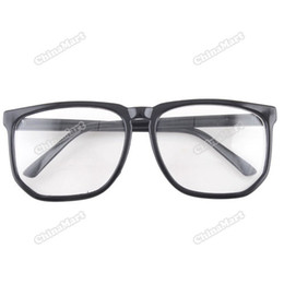 Wholesale-newbie Large Square Clear Lens Black Frame Occhiali da Nerd 03 supplier clear frame nerd glasses wholesale da chiari bicchierini della struttura del nerd all'ingrosso fornitori