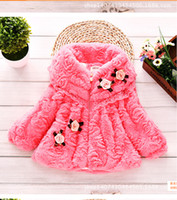 Wholesale High Quality Winter Children Coats - Wholesale-2015 of the autumn winter fashionable, high quality soft plush girl bud silk small coat jacket clothes children fur coat