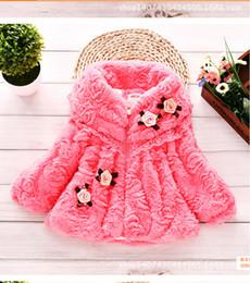 Wholesale 5t Girls Fur Coats - Wholesale-2015 of the autumn winter fashionable, high quality soft plush girl bud silk small coat jacket clothes children fur coat