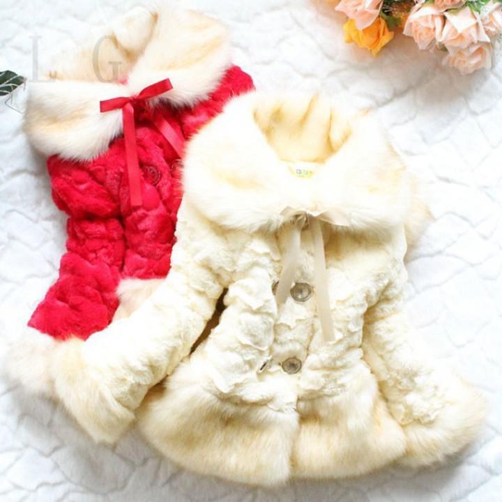 386e86211 Wholesale New Girls Leopard Faux Fox Fur Collar Coat Clothing Autumn ...