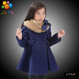 Wholesale 5t Cashmere - Wholesale-The new autumn and winter children's clothing girls plush jacket coat Children coral cashmere coat